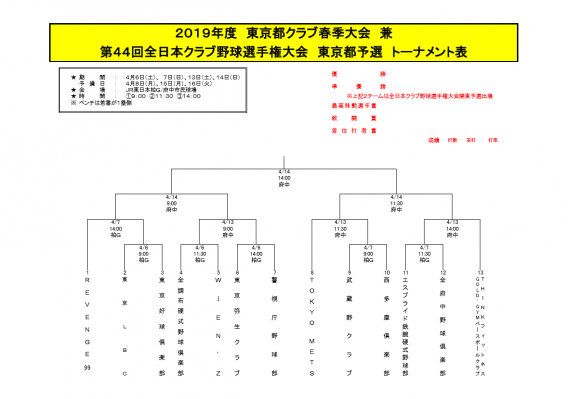 第44回 全日本クラブ野球選手権大会!